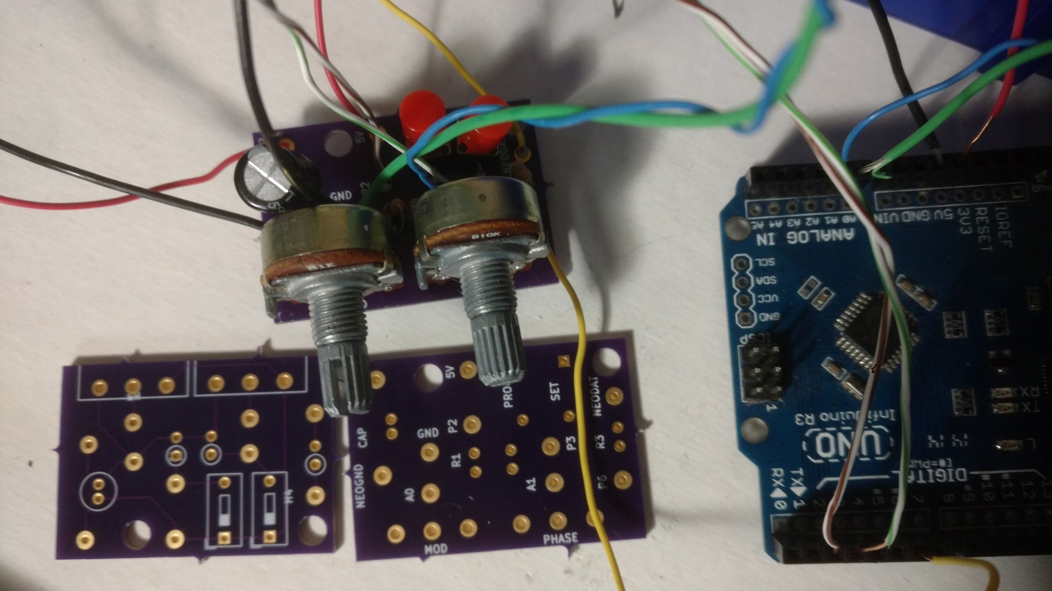 neopixel control and power circuit